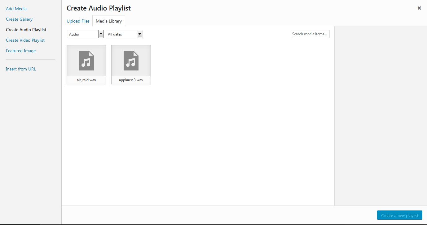 Create Audio Playlist