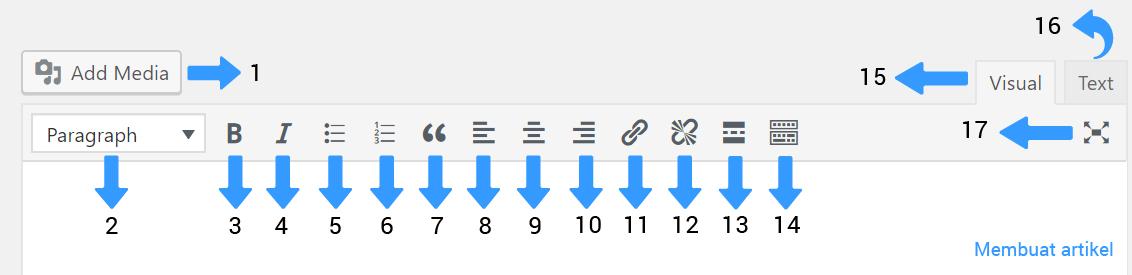 toolbar menu