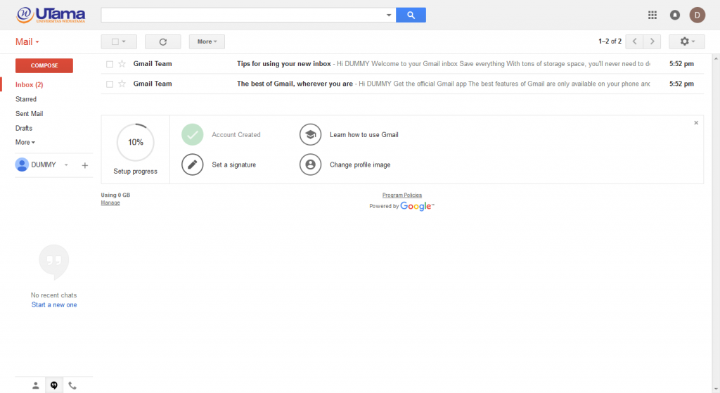 panduan email widyatama 4