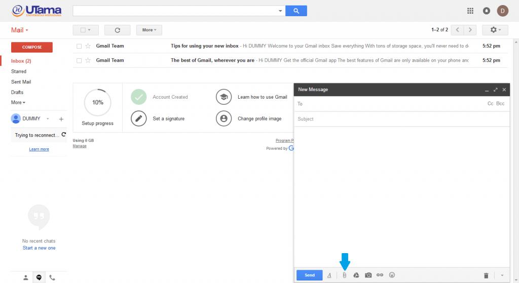 panduan email widyatama 8