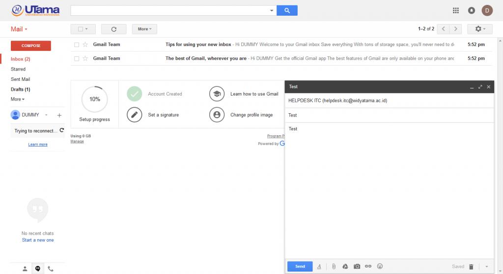 panduan email widyatama 6