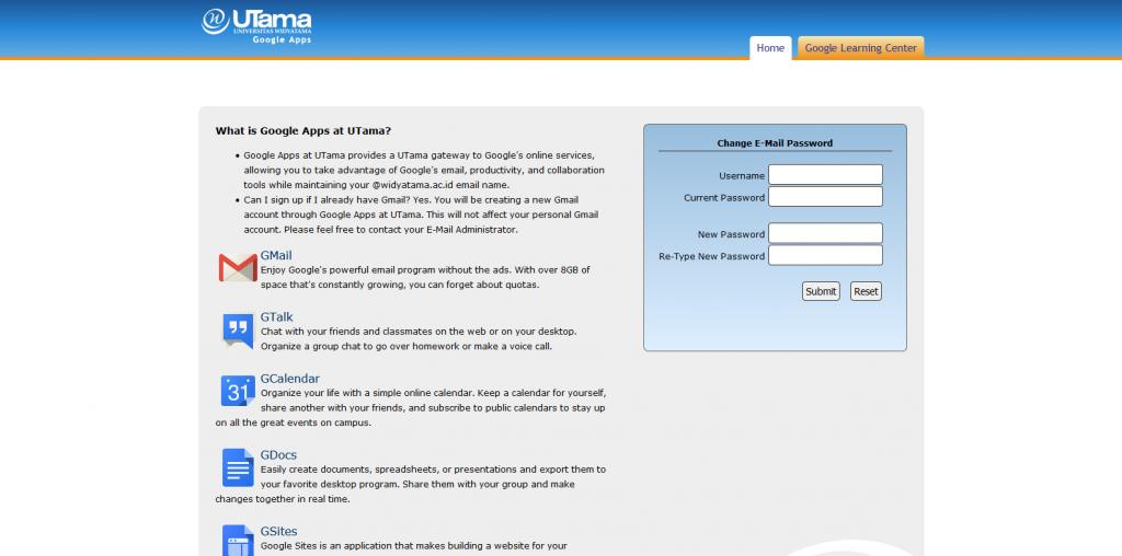 Utama API Google - Universitas Widyatama