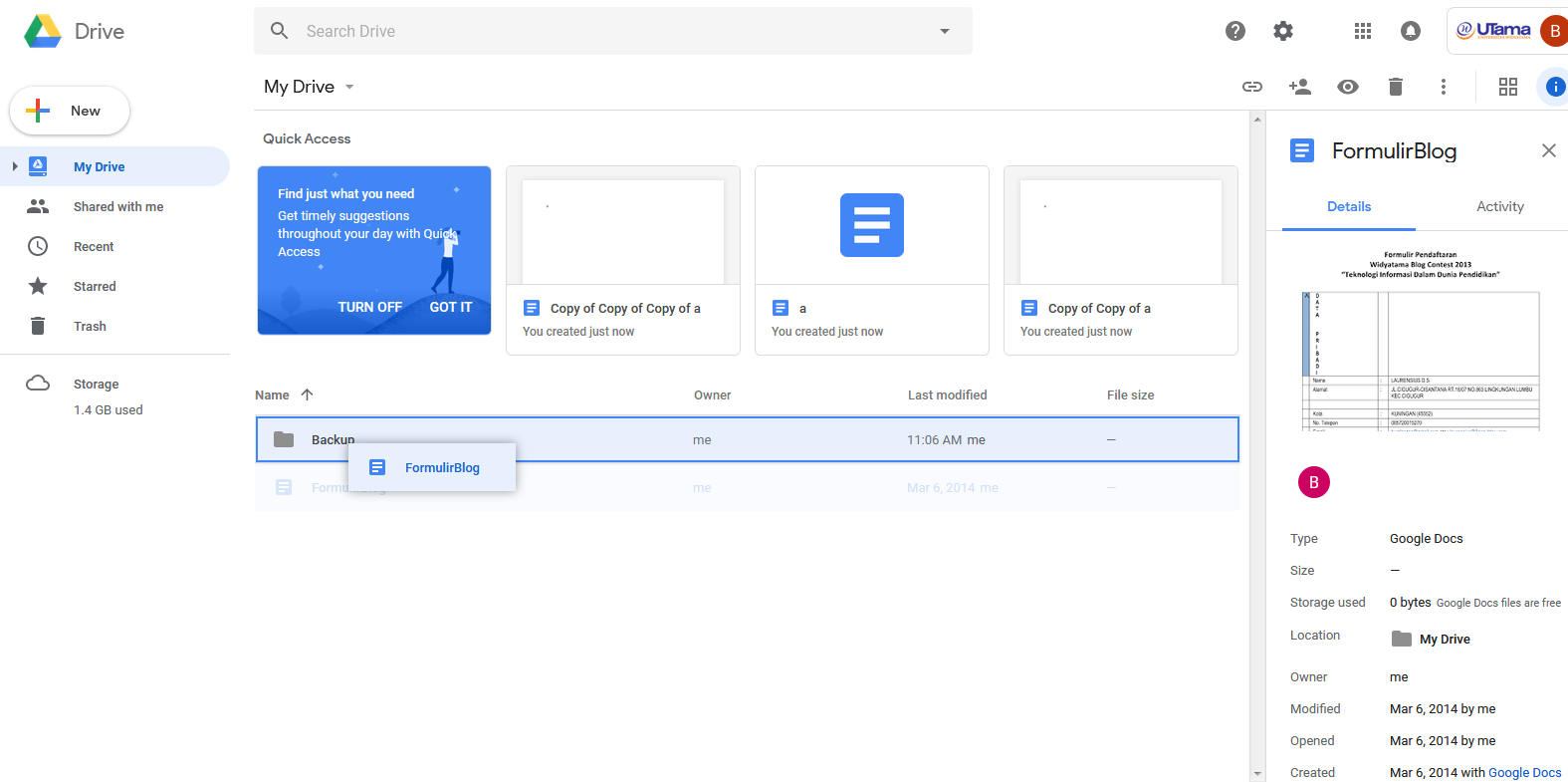 Migrasi Data Google Drive Ke Akun Lain Pusat Teknologi Informasi
