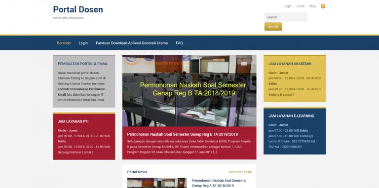 Portal Dosen Universitas Widyatama